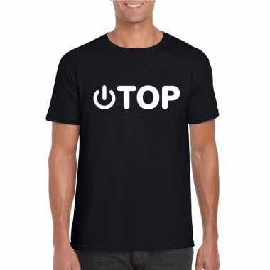 Homo shirt power top zwart heren