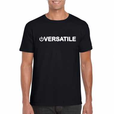 Homo shirt power versatile zwart heren