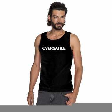 Homo tanktop/ singlet shirt power versatile zwart heren