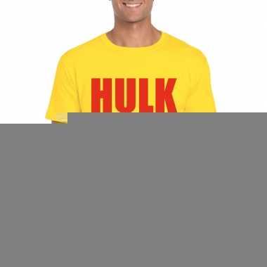 Hulk worstelaar t shirt geel rood mannen
