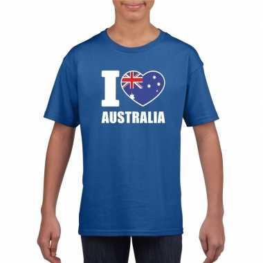 I love australie supporter shirt blauw jongens meisjes