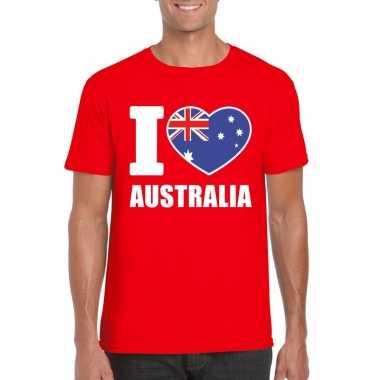 I love australie supporter shirt rood heren