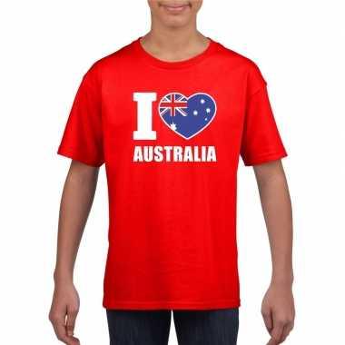 I love australie supporter shirt rood jongens meisjes