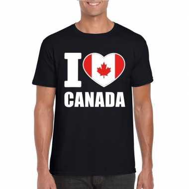 I love canada supporter shirt zwart heren