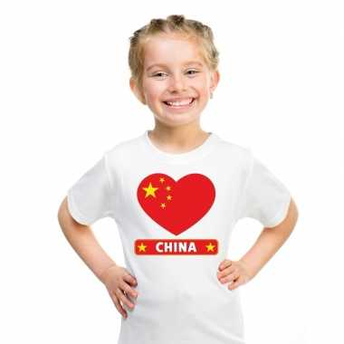 I love china t shirt wit kinderen