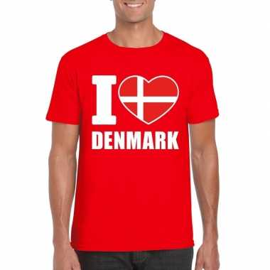 I love denemarken supporter shirt rood heren