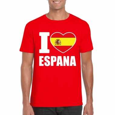 I love espana/ spanje supporter shirt rood heren