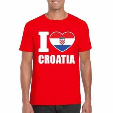 I love kroatie supporter shirt rood heren
