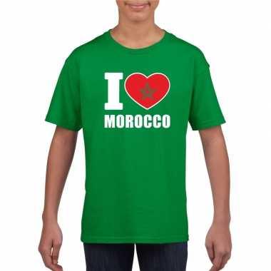 I love marokko supporter shirt groen jongens meisjes