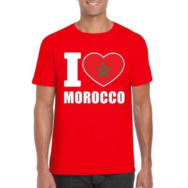 I love marokko supporter shirt rood heren