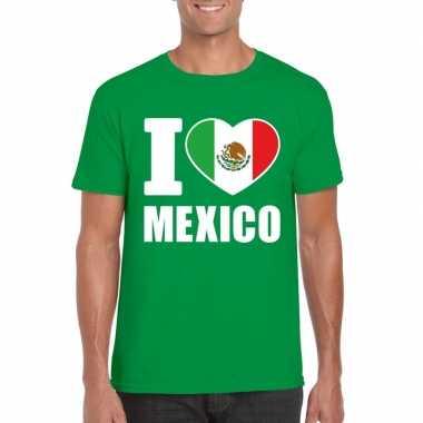 I love mexico supporter shirt groen heren