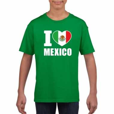 I love mexico supporter shirt groen jongens meisjes
