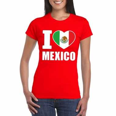 I love mexico supporter shirt rood dames