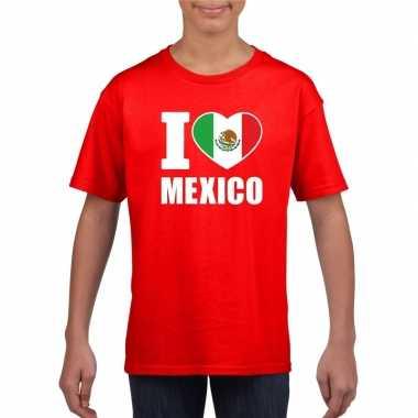 I love mexico supporter shirt rood jongens meisjes