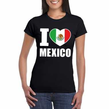 I love mexico supporter shirt zwart dames