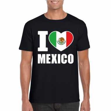 I love mexico supporter shirt zwart heren