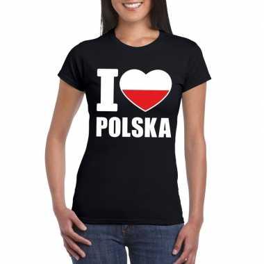 I love polen supporter shirt zwart dames