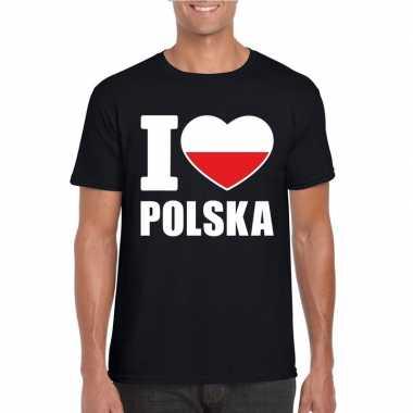 I love polen supporter shirt zwart heren