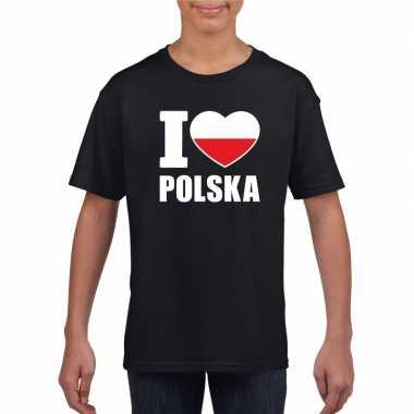 I love polen supporter shirt zwart jongens meisjes