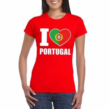 I love portugal supporter shirt rood dames