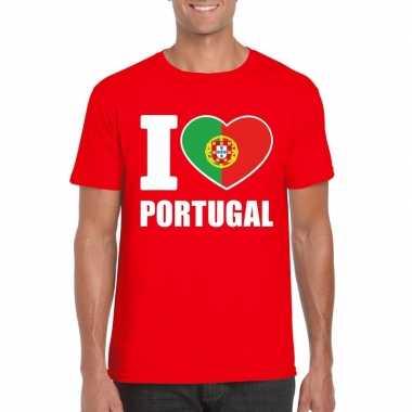 I love portugal supporter shirt rood heren