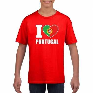 I love portugal supporter shirt rood jongens meisjes