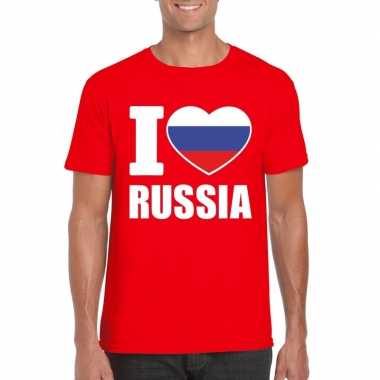 I love rusland supporter shirt rood heren