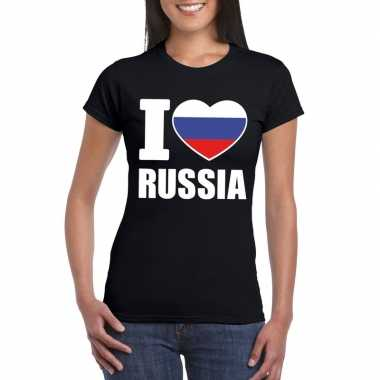 I love rusland supporter shirt zwart dames