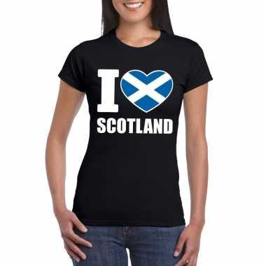 I love schotland supporter shirt zwart dames