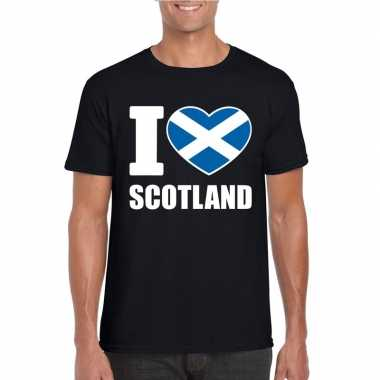 I love schotland supporter shirt zwart heren