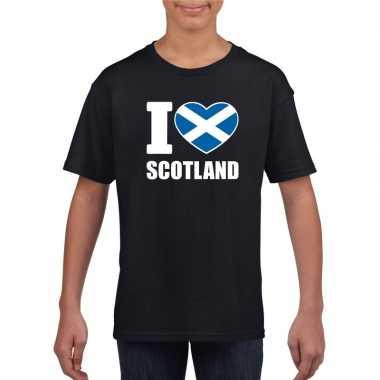 I love schotland supporter shirt zwart jongens meisjes