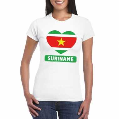 I love suriname t-shirt wit dames