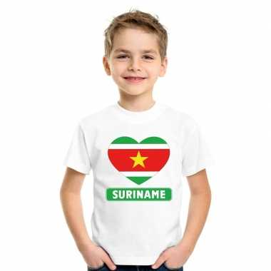 I love suriname t-shirt wit kinderen