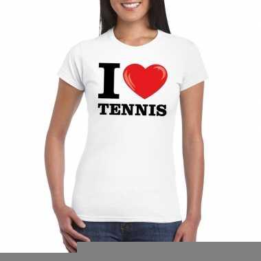 I love tennis t-shirt wit dames