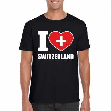 I love zwitserland supporter shirt zwart heren