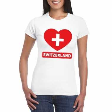 I love zwitserland t shirt wit dames