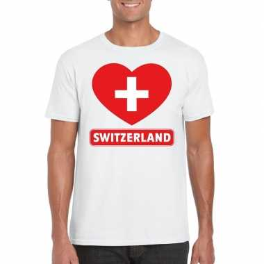 I love zwitserland t shirt wit heren