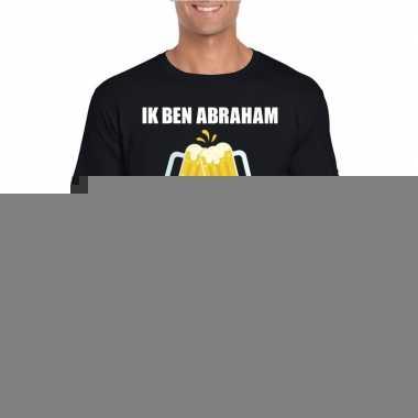 Ik ben abraham t-shirt zwart bier heren