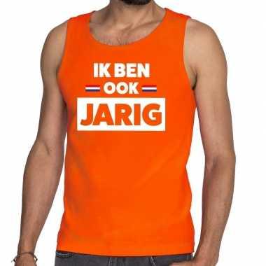 Ik ben ook jarig tanktop / mouwloos shirt oranje heren