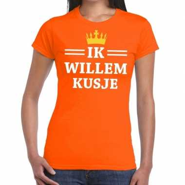 Ik willem kusje mouwloos shirt oranje dames
