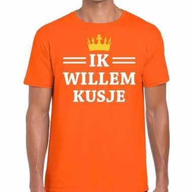 Ik willem kusje mouwloos shirt oranje heren