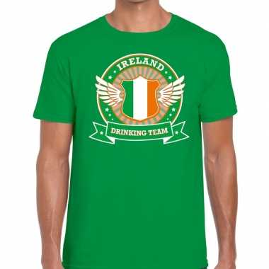 Ireland drinking team t shirt groen heren