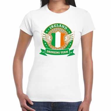 Ireland drinking team t shirt wit dames