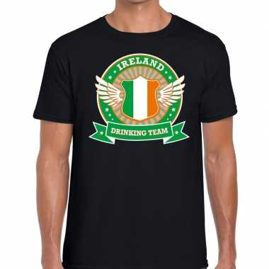 Ireland drinking team t shirt zwart heren