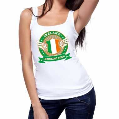 Ireland drinking team tanktop / mouwloos shirt wit dames