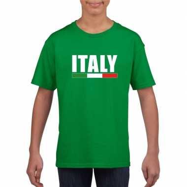 Italiaanse supporter t shirt groen kinderen
