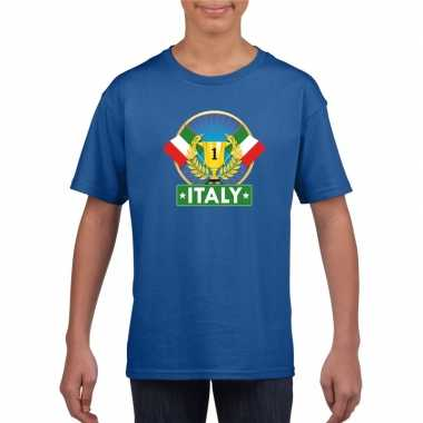 Italie kampioen shirt blauw kinderen
