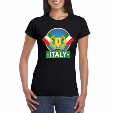 Italie kampioen shirt zwart dames