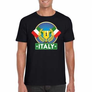 Italie kampioen shirt zwart heren