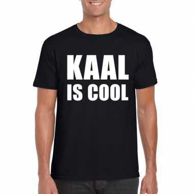 Kaal is cool shirt zwart heren
